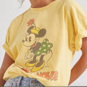 Urban Outfitters Yellow Minnie Mouse Tee Junk Food
